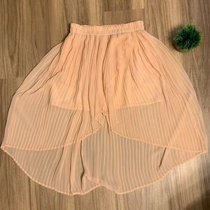 Peach High Low Flowy Mini Skirt Urban Outfitters M